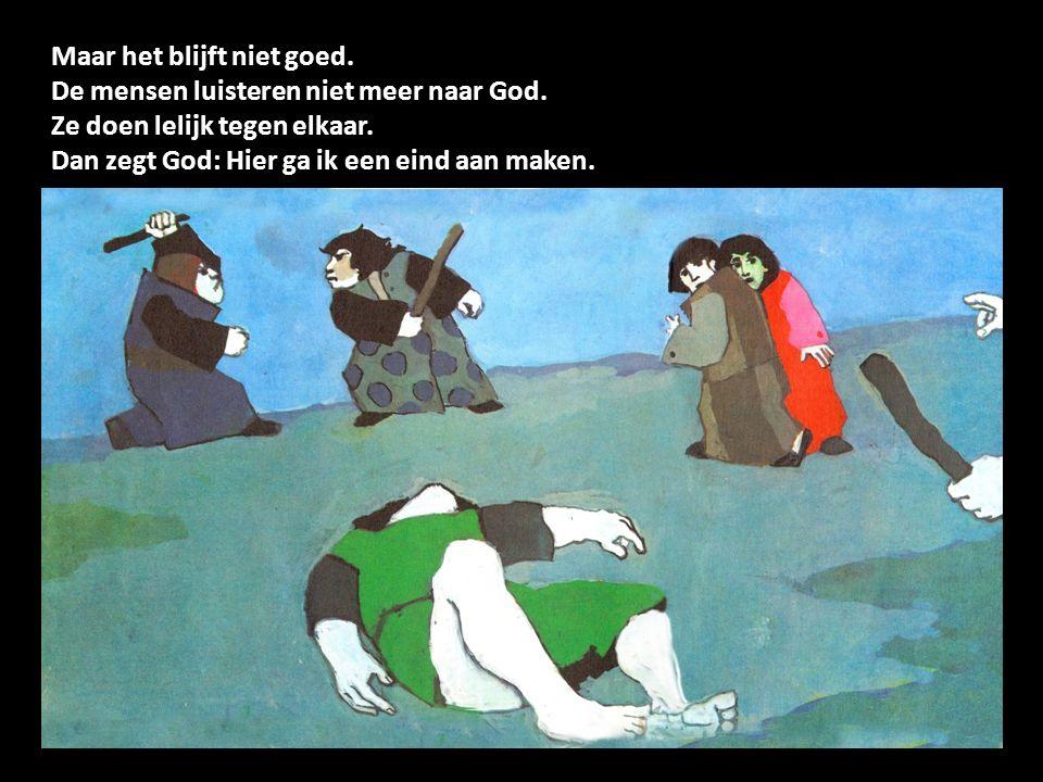 Noach is een vriend van God. Hij vergeet God niet. En God vergeet Noach niet.