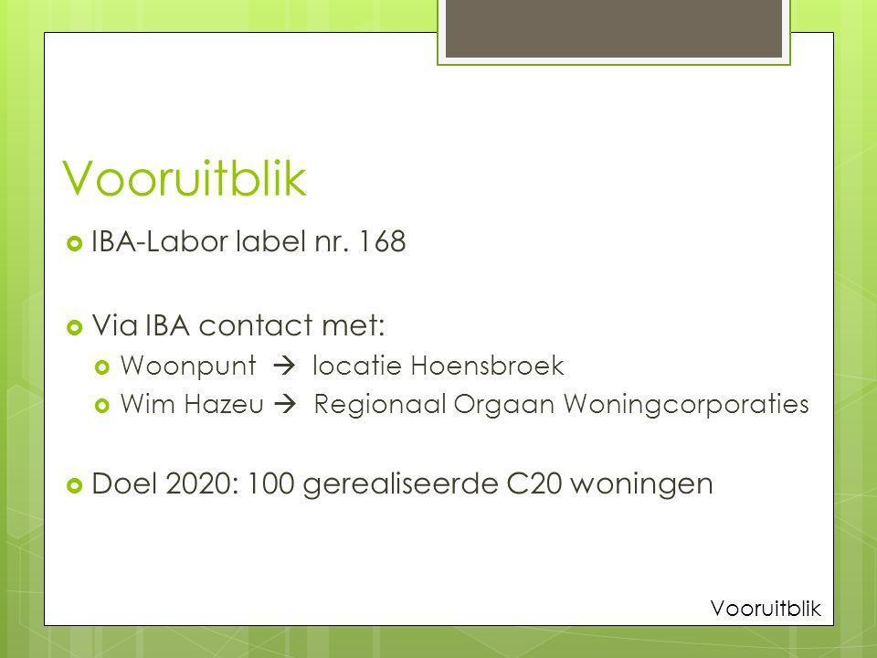 Vooruitblik  IBA-Labor label nr.