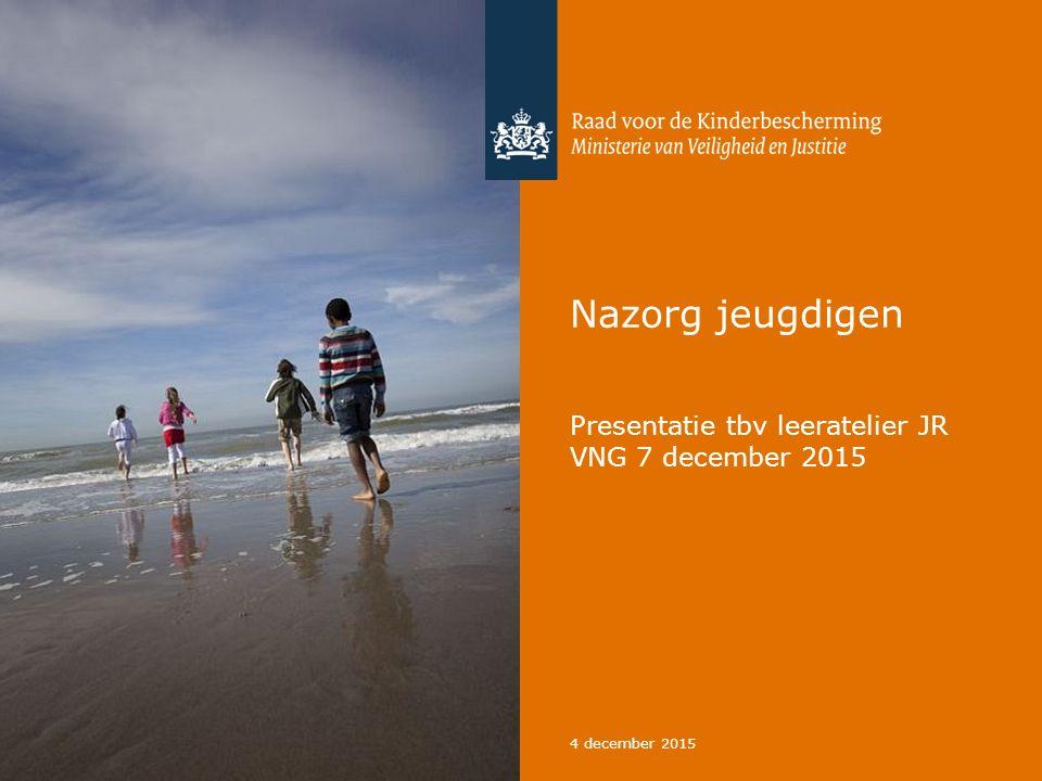 Nazorg jeugdigen Presentatie tbv leeratelier JR VNG 7 december 2015 4 december 2015