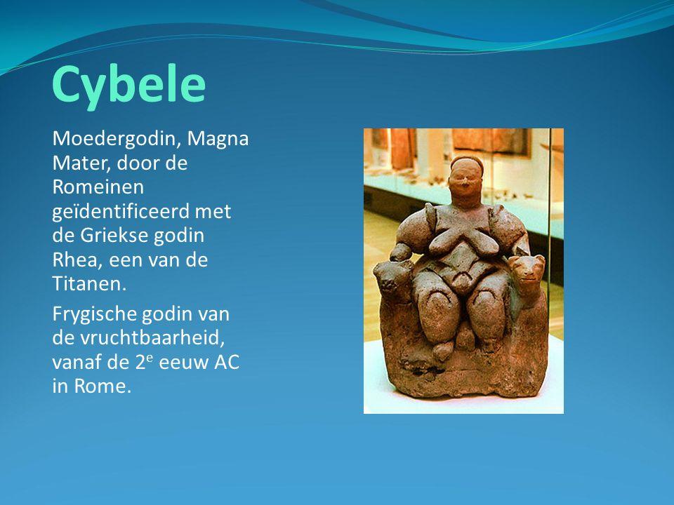 Cybele Moedergodin, Magna Mater, door de Romeinen geïdentificeerd met de Griekse godin Rhea, een van de Titanen.