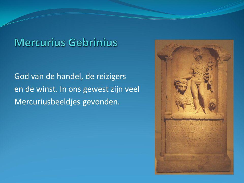 God van de handel, de reizigers en de winst. In ons gewest zijn veel Mercuriusbeeldjes gevonden.