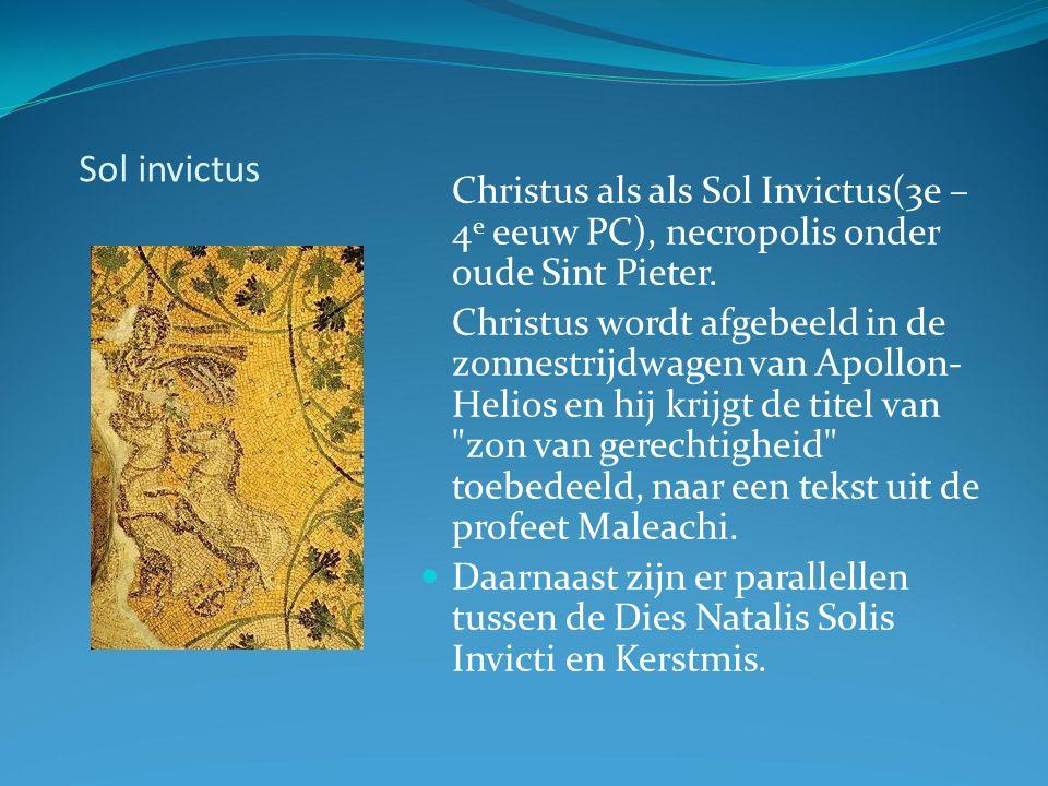 Sol invictus Christus als als Sol Invictus(3e – 4 e eeuw PC), necropolis onder oude Sint Pieter.