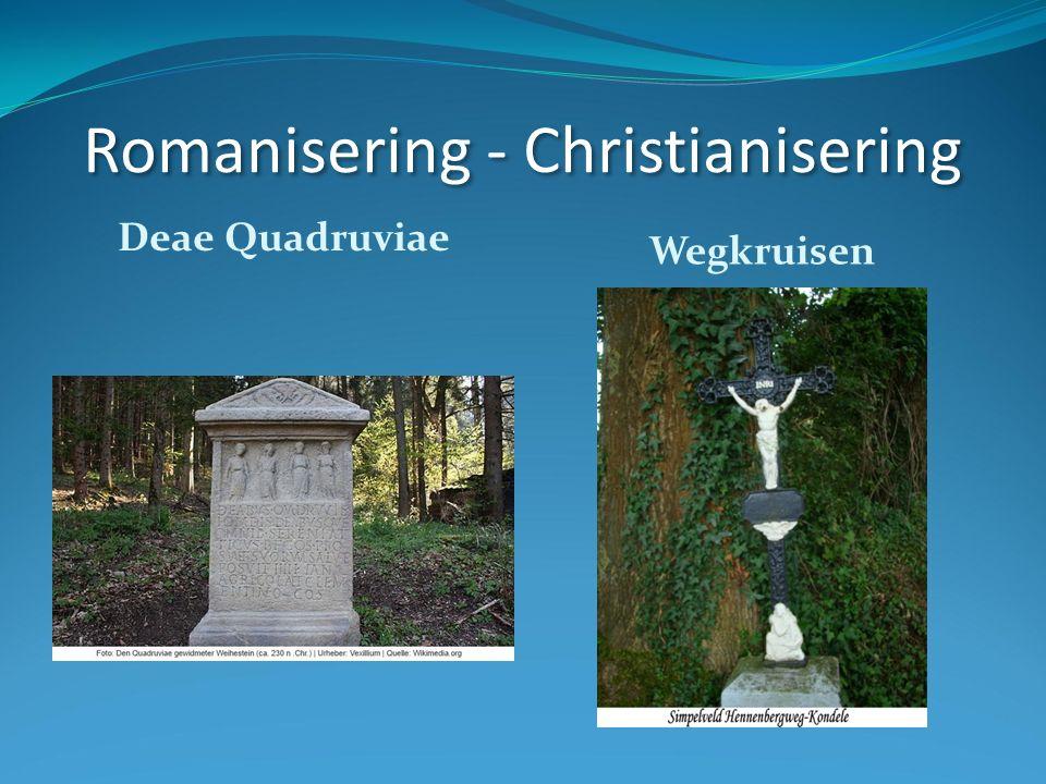 Romanisering - Christianisering Deae Quadruviae Wegkruisen