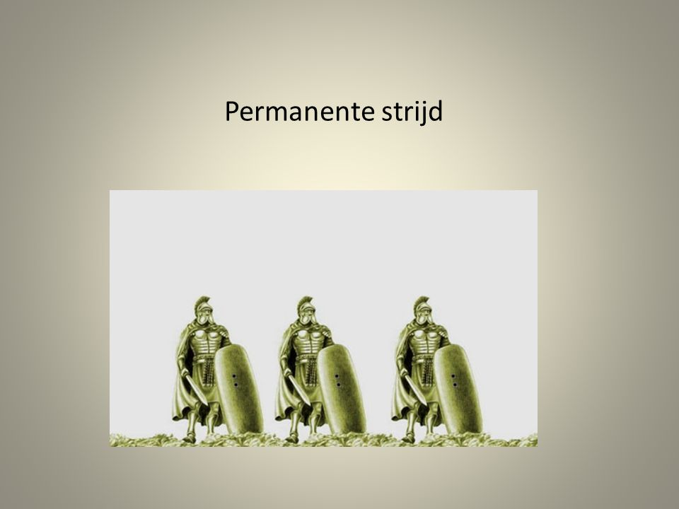 Permanente strijd