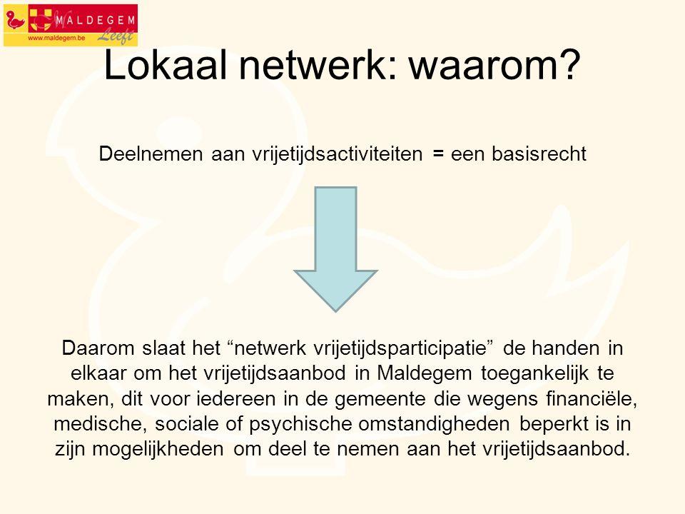 Lokaal netwerk: wie.Overleg tussen gemeentebestuur, OCMW en Welzijnsschakels Maldegem.