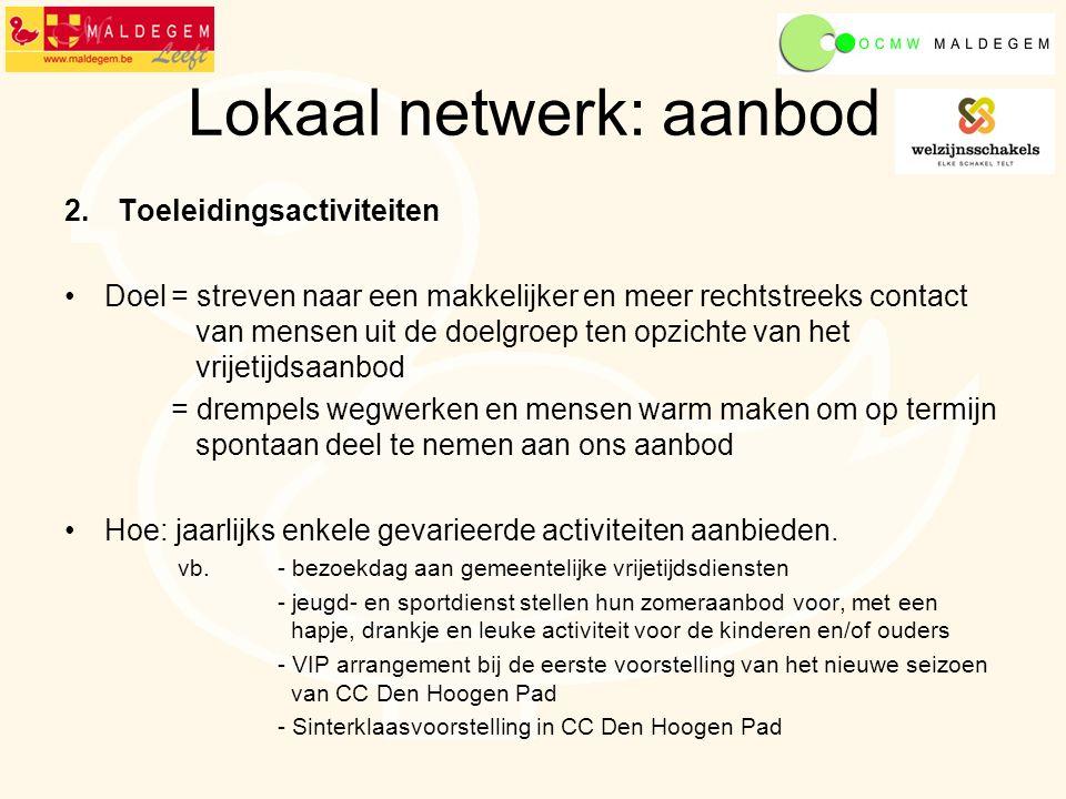 Doel = het netwerk meer opentrekken door ook adviesraden te betrekken in het overleg.