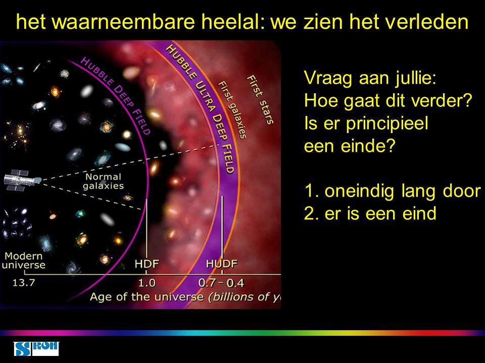 de grens van het waarneembare heelal Space class 5 oct 2010 Is er principieel een einde tot waar we kunnen kijken.