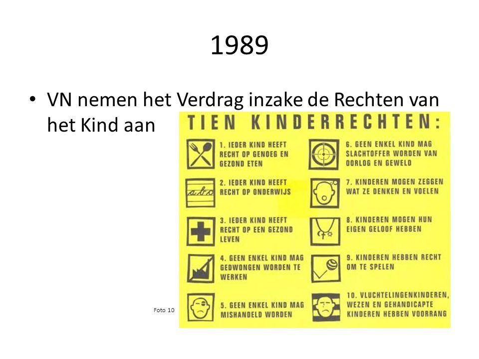 1989 VN nemen het Verdrag inzake de Rechten van het Kind aan Foto 10