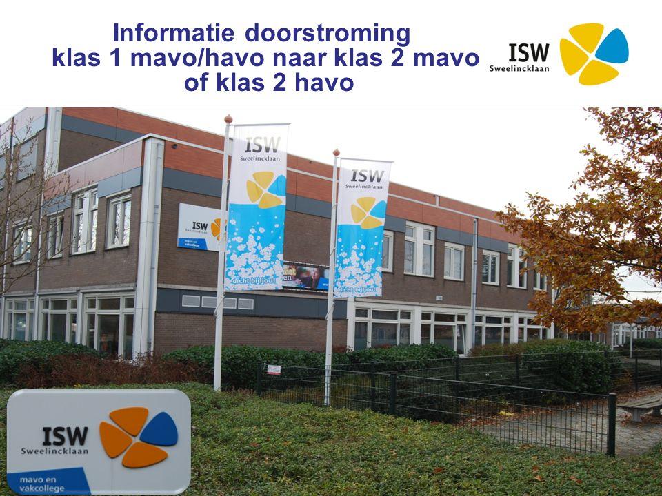 Interconfessionele Scholengroep Westland Informatie doorstroming klas 1 mavo/havo naar klas 2 mavo of klas 2 havo