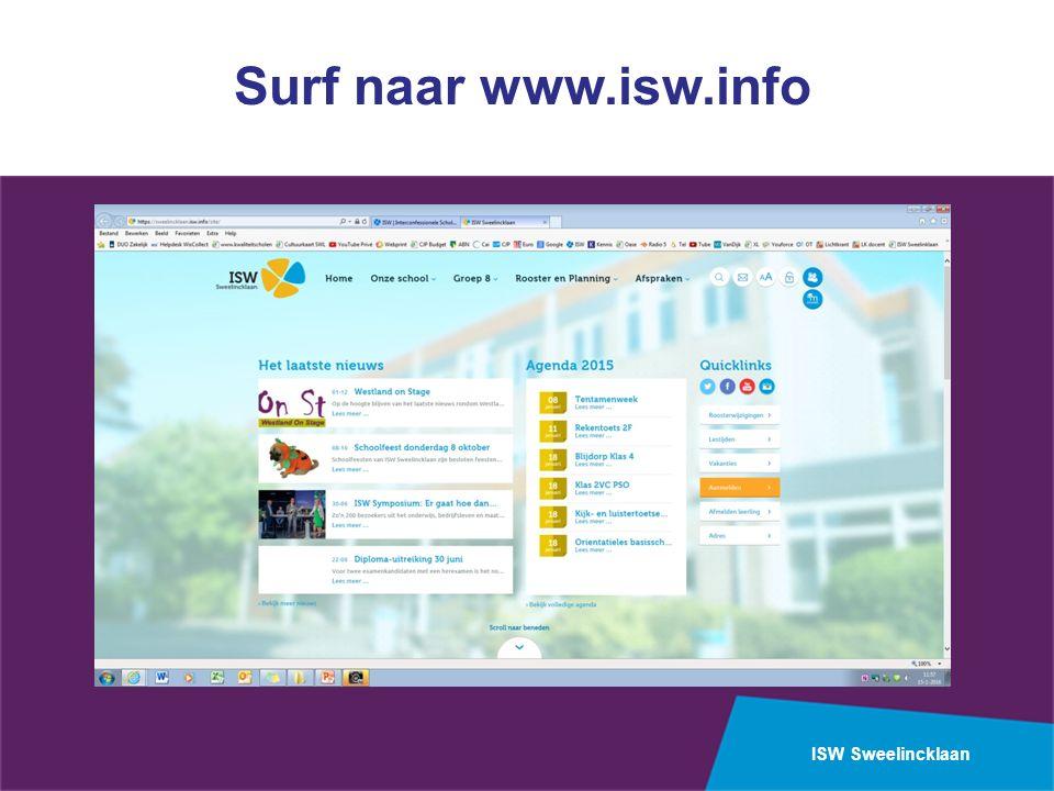 ISW Sweelincklaan Surf naar www.isw.info