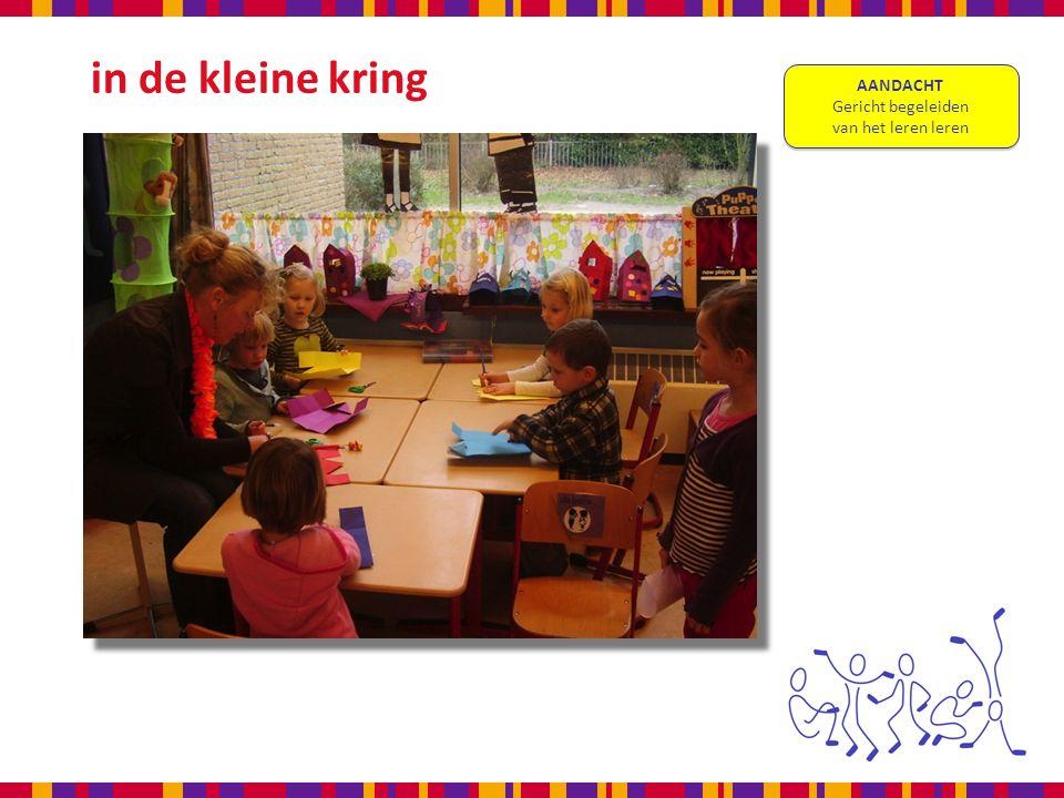 in de kleine kring AANDACHT Gericht begeleiden van het leren leren AANDACHT Gericht begeleiden van het leren leren