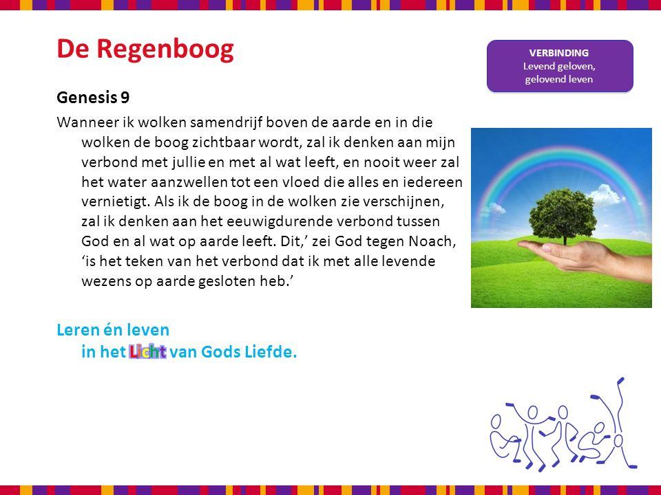 De Regenboog VERBINDING Levend geloven, gelovend leven VERBINDING Levend geloven, gelovend leven