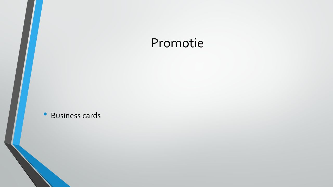 Promotie Business cards