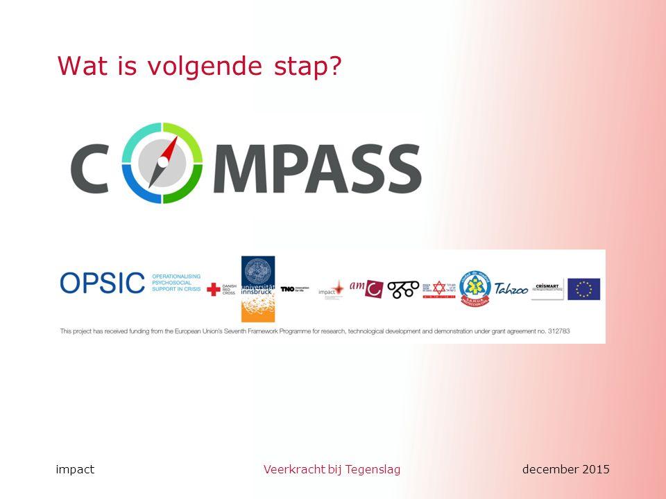 impactVeerkracht bij Tegenslagdecember 2015 www.wijzijndappr.nl