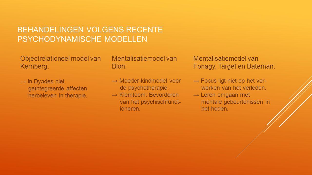 INTEGRATIE IN HET MODEL VOOR KLINISCHE PSYCHOTHERAPIE In het KLIPP benadert men automutilatie vanuit de drie recente psychodynamische modellen.
