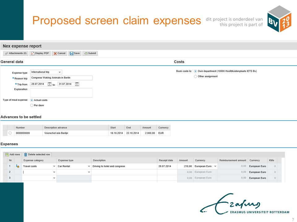 R: 000 G: 083 B: 093 R: 233 G: 107 B: 018 Proposed screen claim expenses 7
