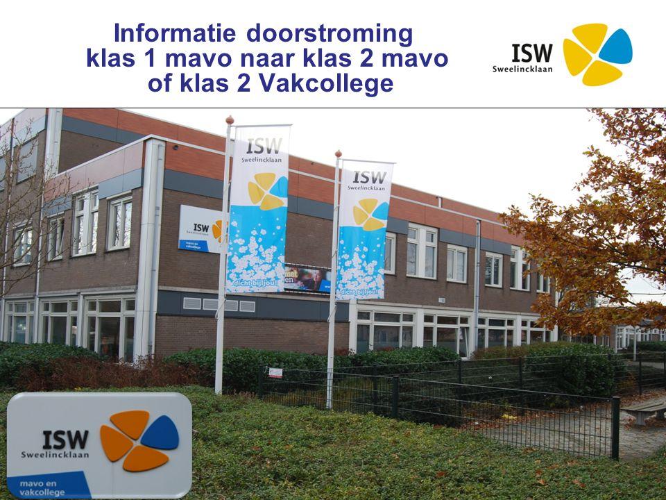 Interconfessionele Scholengroep Westland Informatie doorstroming klas 1 mavo naar klas 2 mavo of klas 2 Vakcollege
