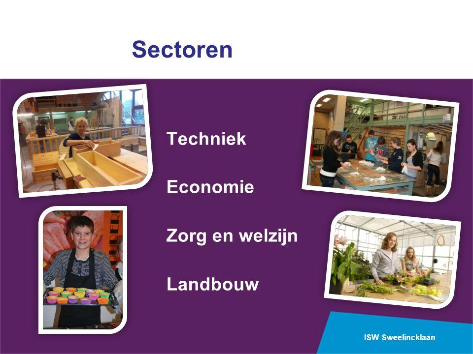 ISW Sweelincklaan Sectoren Techniek Economie Zorg en welzijn Landbouw