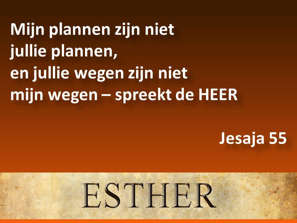 Mijn plannen zijn niet jullie plannen, en jullie wegen zijn niet mijn wegen – spreekt de HEER Jesaja 55 Mijn plannen zijn niet jullie plannen, en jull