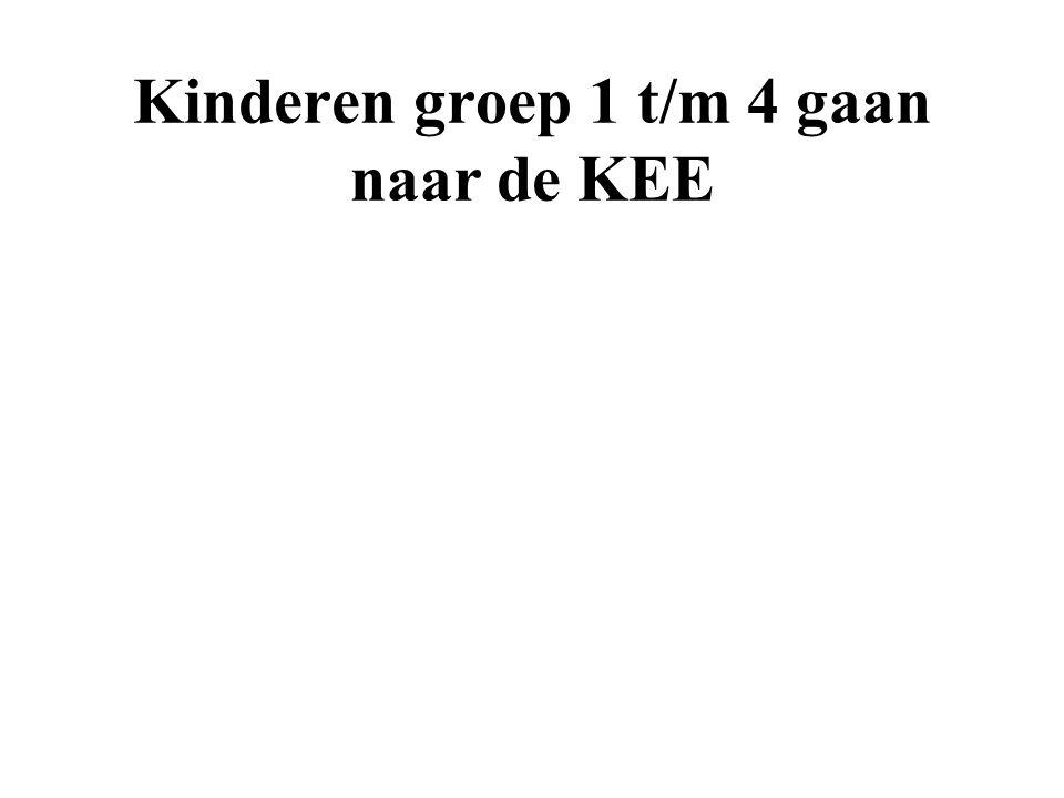 Kinderen groep 1 t/m 4 gaan naar de KEE