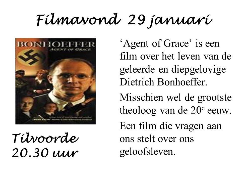 Filmavond 29 januari 'Agent of Grace' is een film over het leven van de geleerde en diepgelovige Dietrich Bonhoeffer.