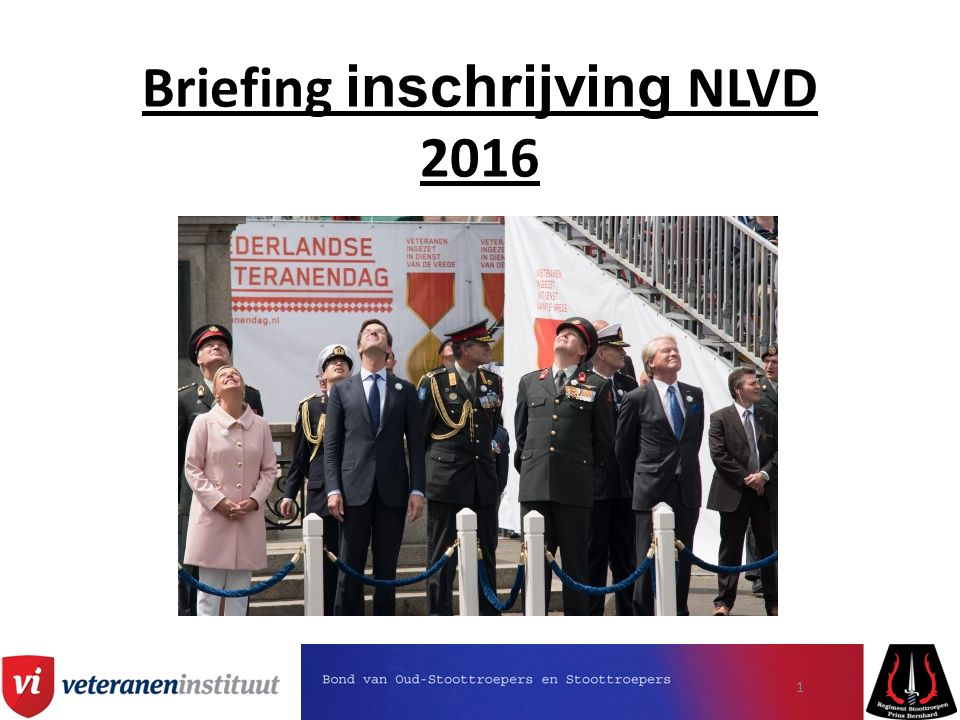 Briefing inschrijving NLVD 2016 1