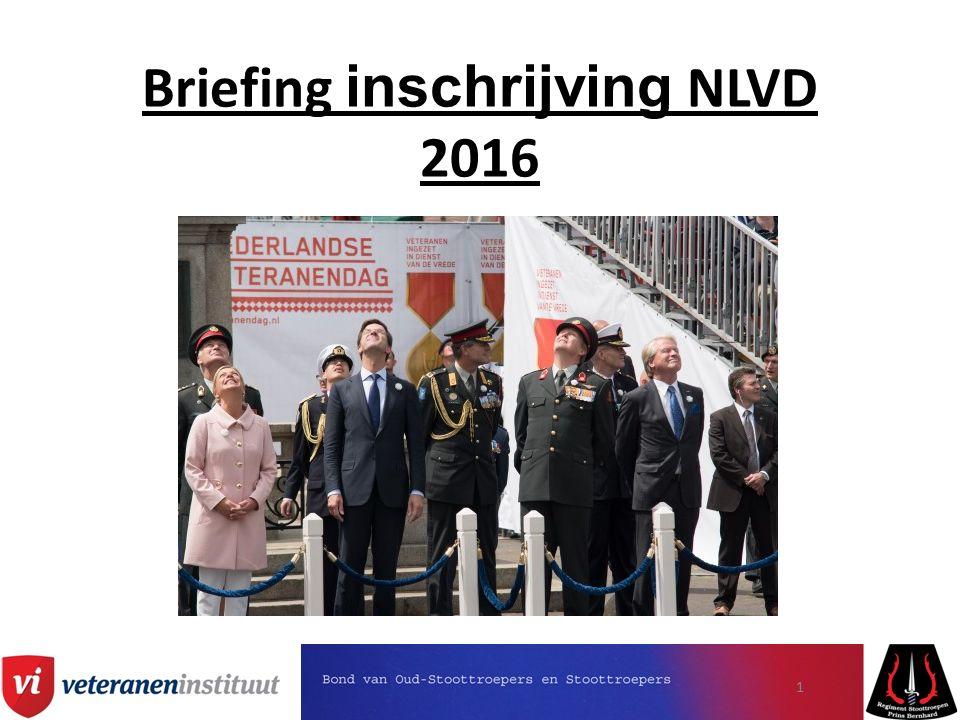 Inschrijfprocedures NLVD Deelname aan NLVD d.m.v.