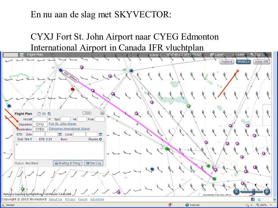 En nu aan de slag met SKYVECTOR: CYXJ Fort St.