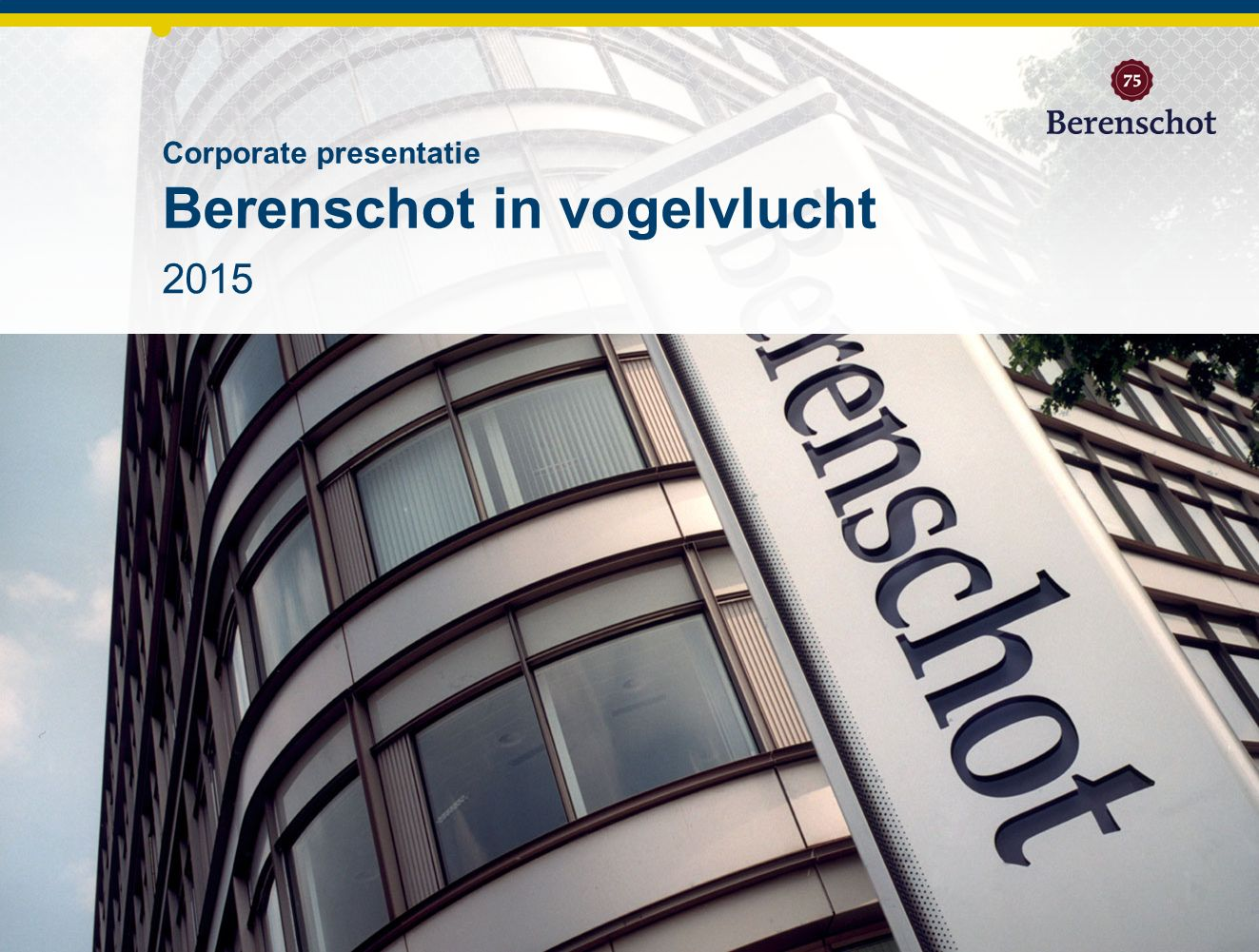 2015 Corporate presentatie Berenschot in vogelvlucht