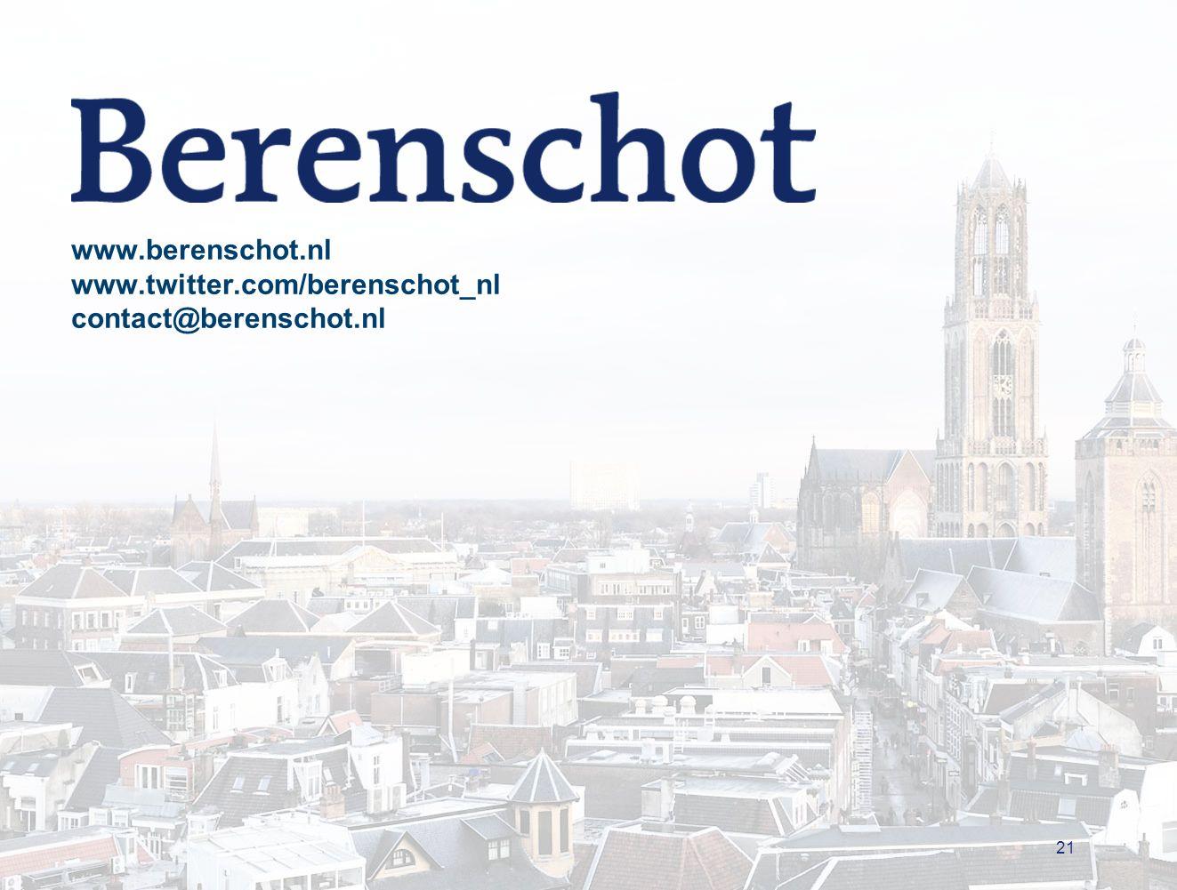 21 www.berenschot.nl www.twitter.com/berenschot_nl contact@berenschot.nl