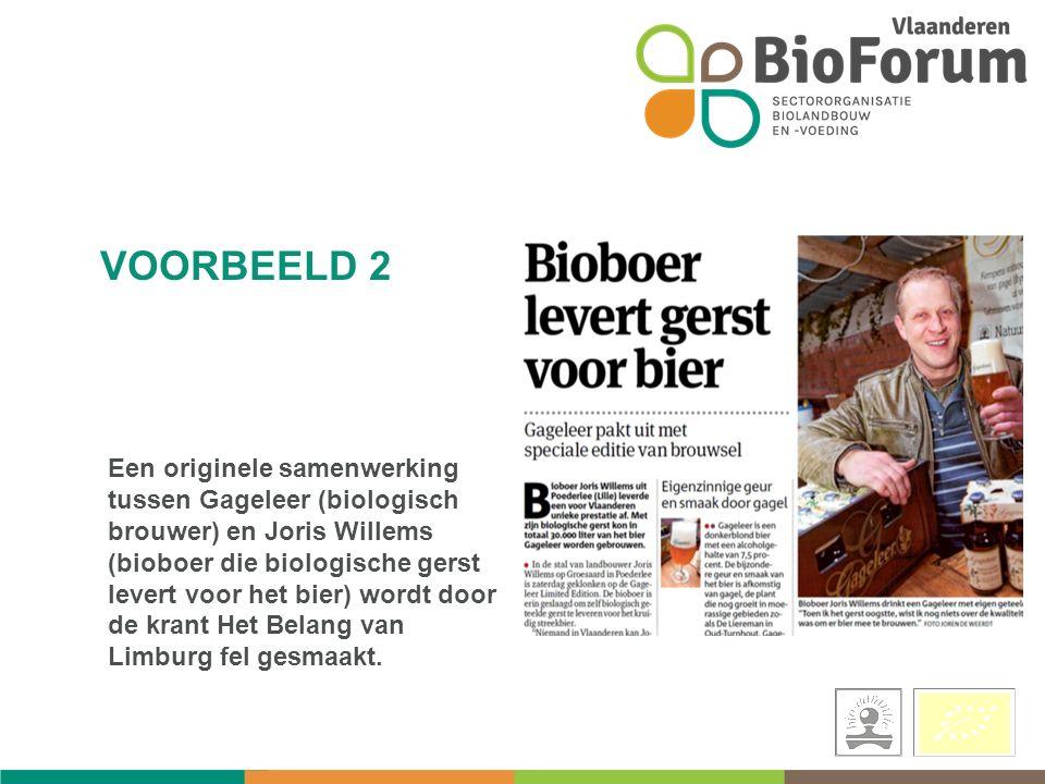 Een originele samenwerking tussen Gageleer (biologisch brouwer) en Joris Willems (bioboer die biologische gerst levert voor het bier) wordt door de krant Het Belang van Limburg fel gesmaakt.