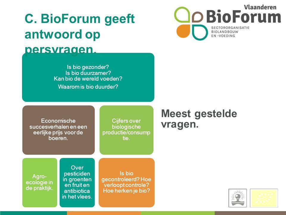 Is bio gezonder. Is bio duurzamer. Kan bio de wereld voeden.
