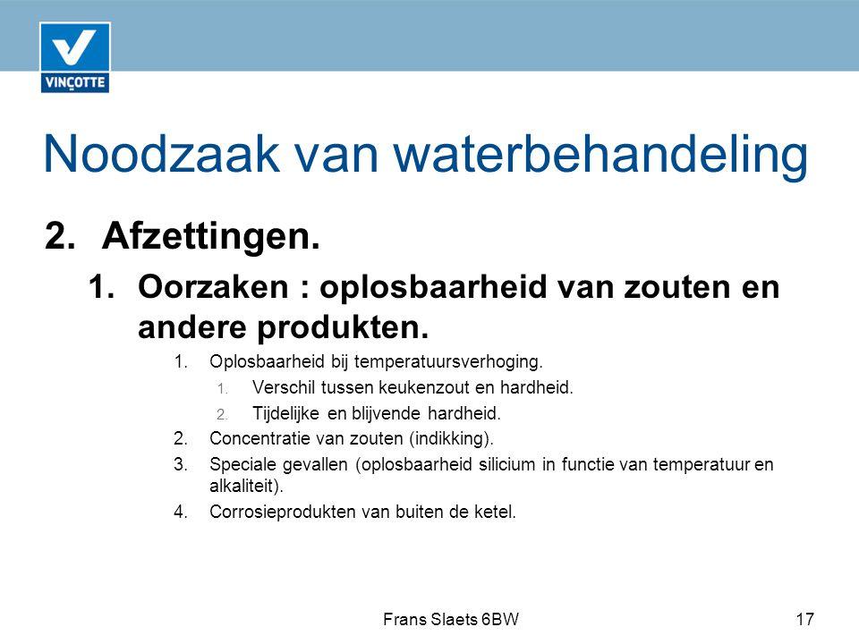 Noodzaak van waterbehandeling 2.Afzettingen.