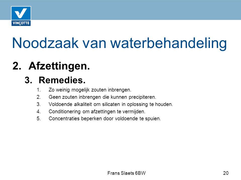 Noodzaak van waterbehandeling 2.Afzettingen.3.Remedies.