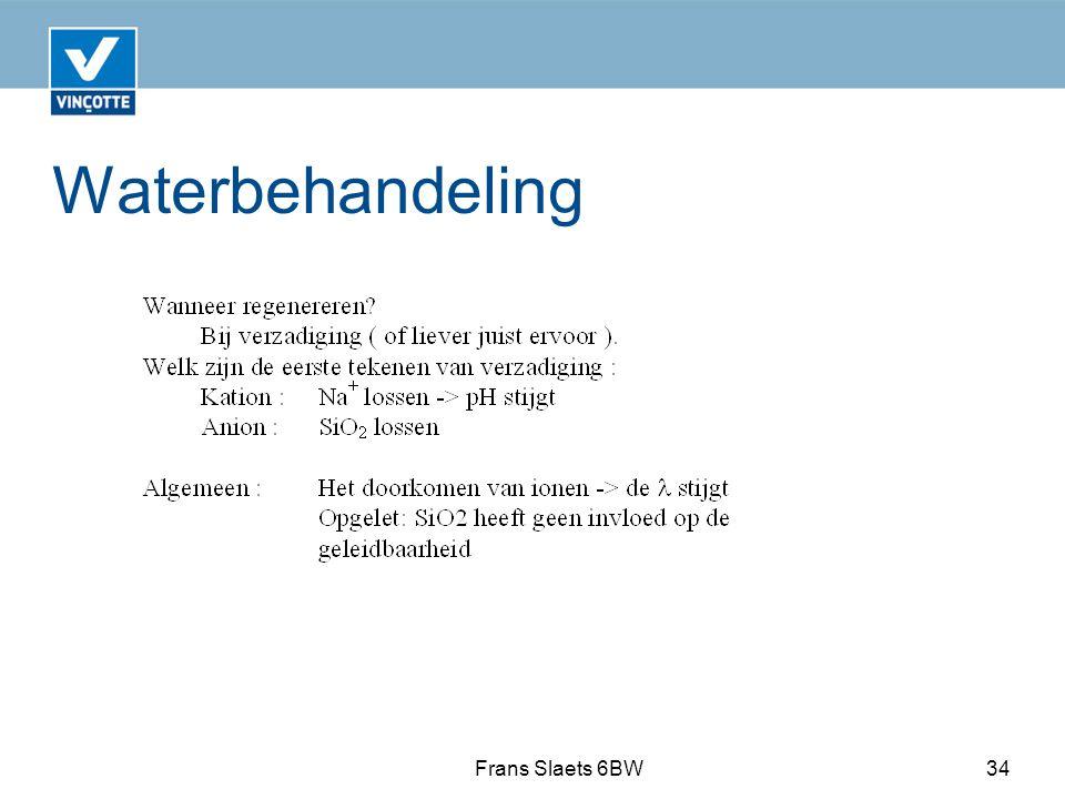 Waterbehandeling Frans Slaets 6BW34