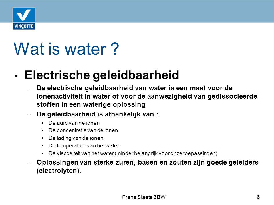 Wat is water .