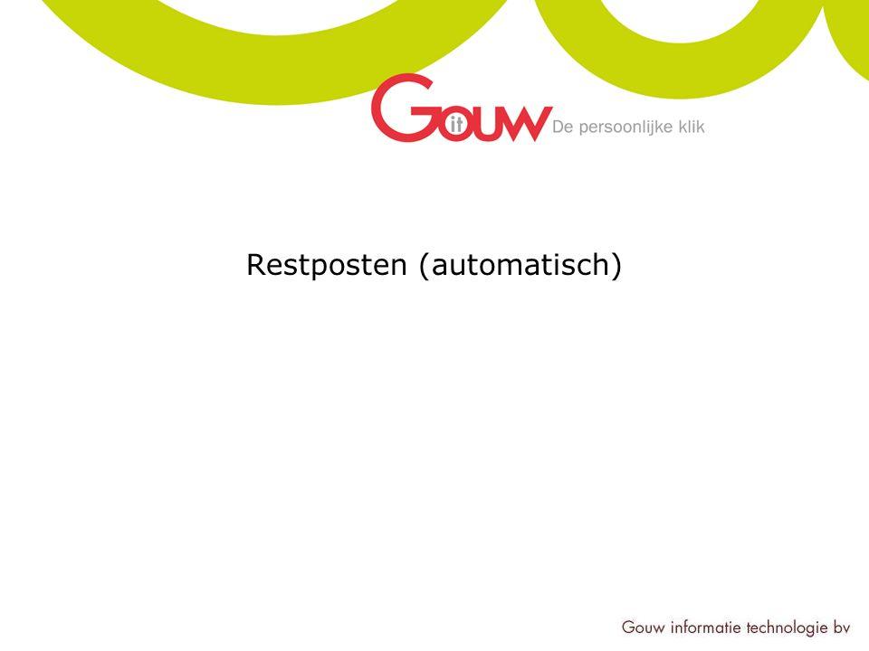 Restposten (automatisch)