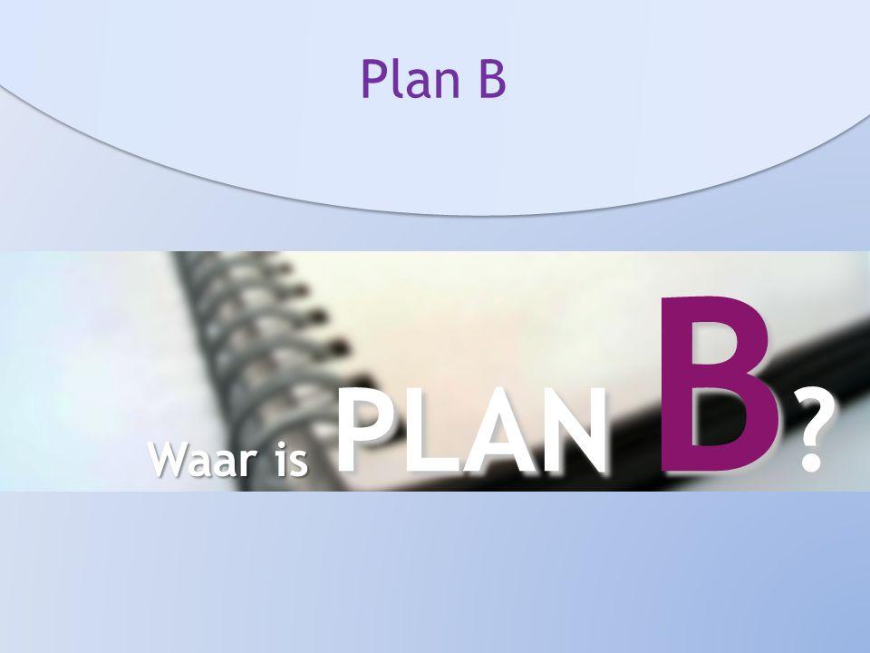Plan B Waar is PLAN B