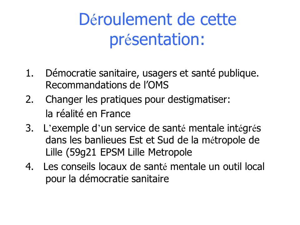 Stigmatisatie, discriminatie en psychiatrische praktijken: aanbevelingen van de WHO in het werkveld voor Frankrijk