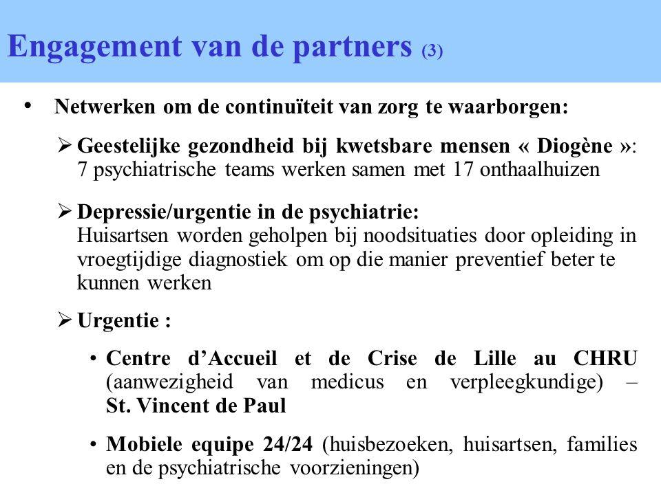 Netwerken om de continuïteit van zorg te waarborgen: Geestelijke gezondheid bij kwetsbare mensen « Diogène »: 7 psychiatrische teams werken samen met
