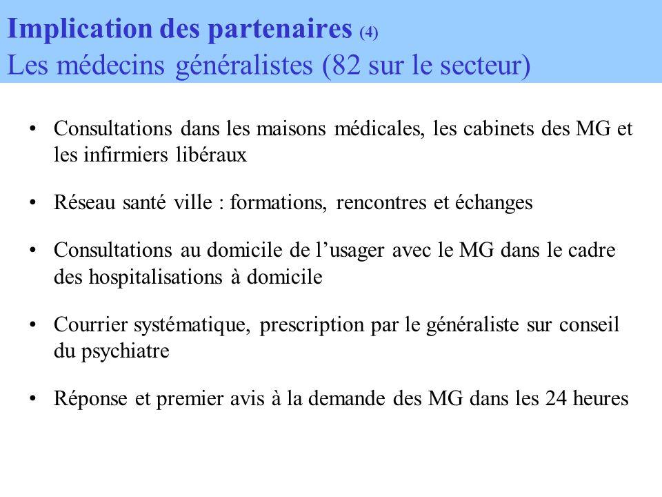 Consultations dans les maisons médicales, les cabinets des MG et les infirmiers libéraux Réseau santé ville : formations, rencontres et échanges Consu