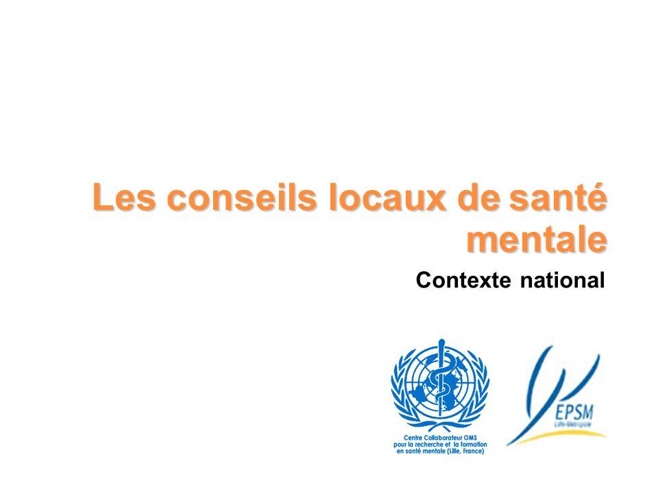 Les conseils locaux de santé mentale Contexte national