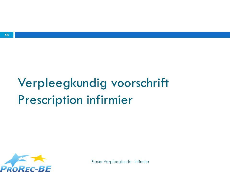 Verpleegkundig voorschrift Prescription infirmier Forum Verpleegkunde - Infirmier 53
