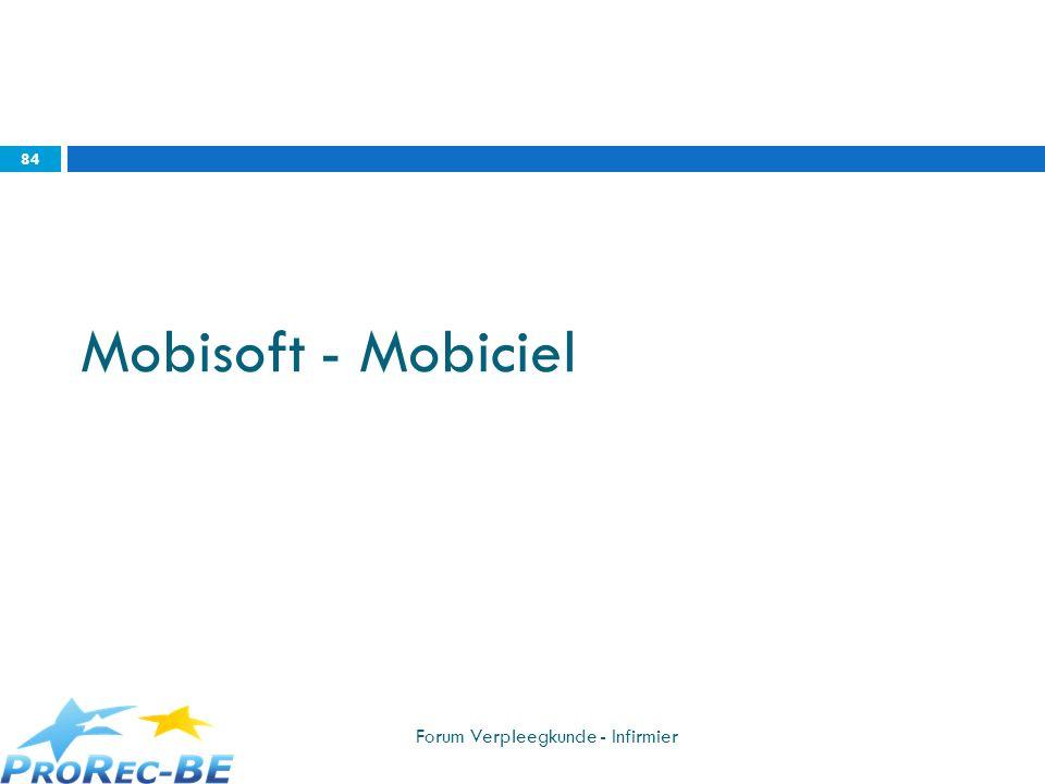 Mobisoft - Mobiciel Forum Verpleegkunde - Infirmier 84
