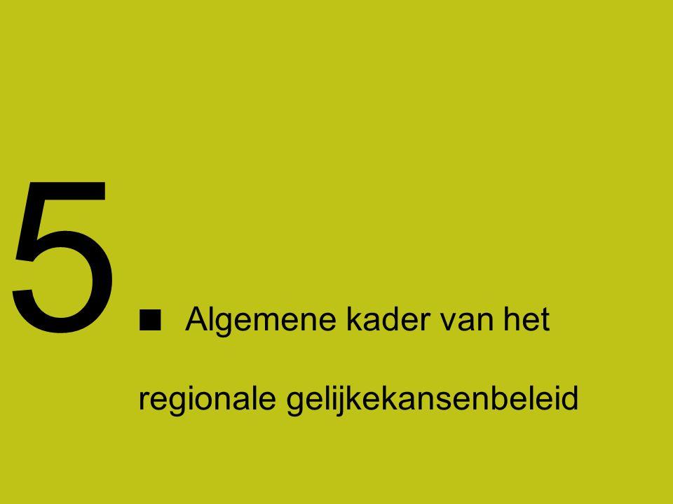 17 1 Section title Section comment 5. Algemene kader van het regionale gelijkekansenbeleid