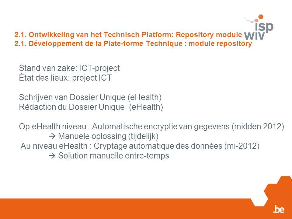 2.1. Ontwikkeling van het Technisch Platform: Repository module 2.1.