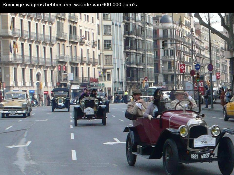 De wagens, met gevaar, 13,30 km per uur voor een overwinning in Sitges. The cars achieved with danger 13,30 km per hour, for a victory in Sitges.
