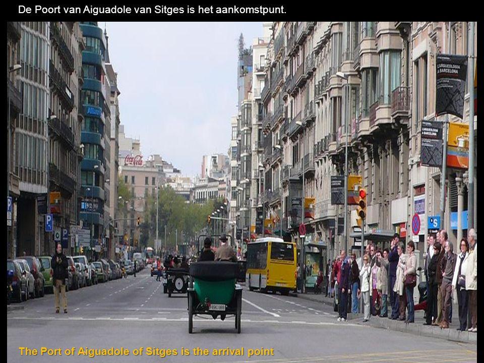 De Poort van Aiguadole van Sitges is het aankomstpunt.