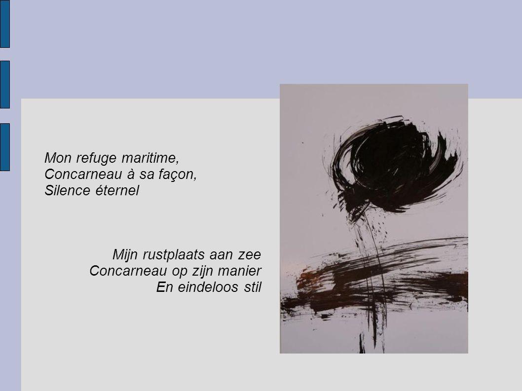 Sapins dansant Dans un matin Breton Soudain une mouette blanche Dansende sparren In een Bretoense morgen Plots één witte meeuw