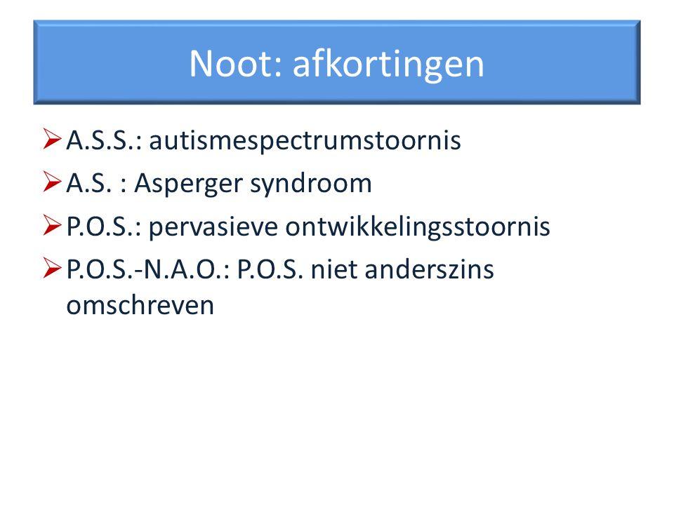 Autisme en het bredere fenotype Bij ongeveer ¼ bloedverwanten van personen met autisme komen kenmerken van A.S.S.